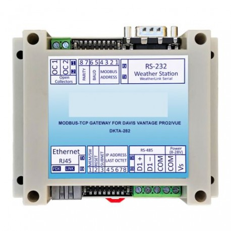 Pasarela MODBUS-TCP para Vantage Pro2™/Vantage Vue® MOD-TCP